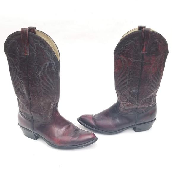 cf3c7fed610 Sheplers Mahogany Cowboy Boots Size 10.5 D